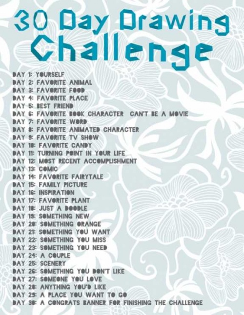 ! 30 days drawing challenge !