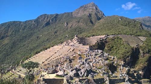 Les terrasses sur le Machu Picchu