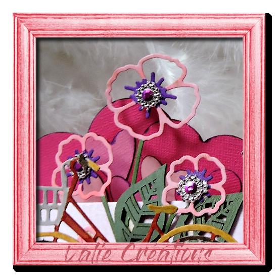 """Carte chevalet : """"Aux Coeurs des Roses"""""""