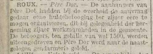 Père Dor - Roux (Het volk (christen werkmansblad) 23 Dezember 1916)