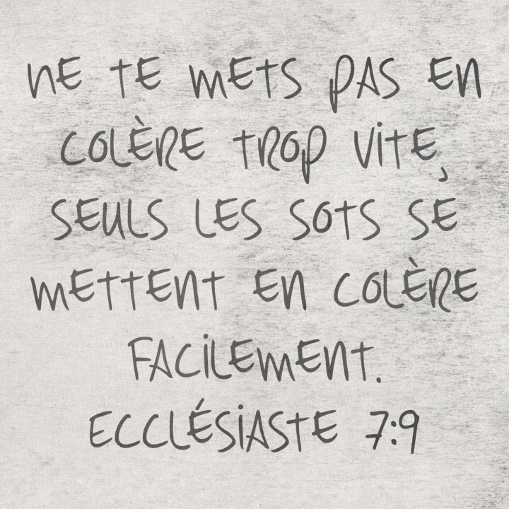 Ecclésiaste 7:9