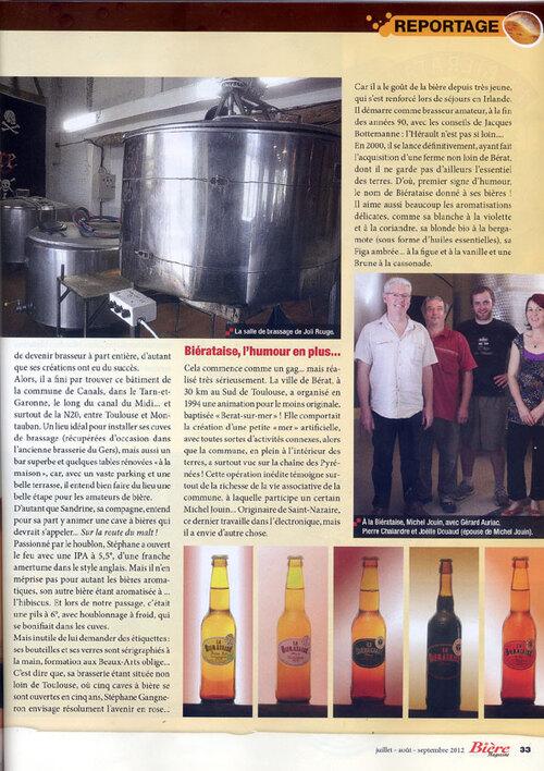 La brasserie Joli Rouge dans Bière Magazine!!!