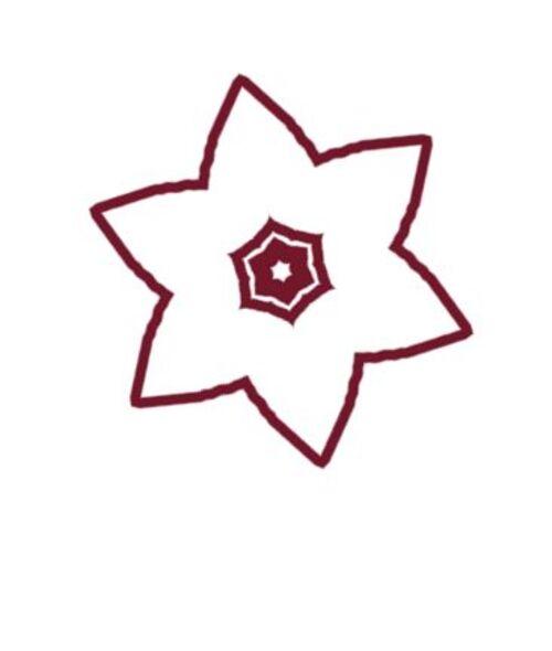 Cousus de fil rouge sert à décorer des carrés de tissus par exemple ou autres