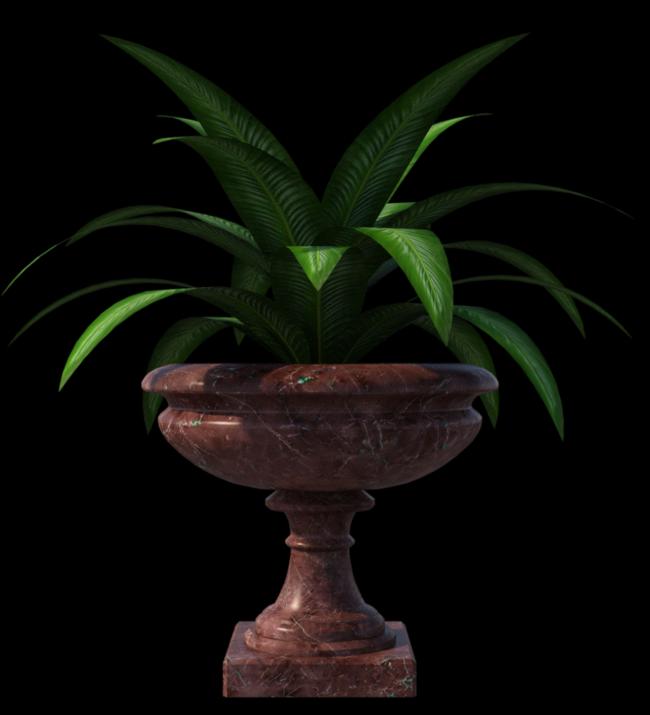 Tube de plante verte (render-image)