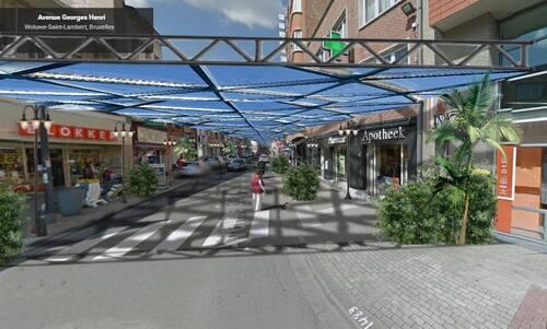 Wolu1200 : L'avenue Georges-Henri sous un toit de verre