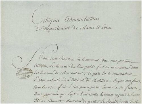 1792, vu depuis le Maine-et-Loire (1ère partie)....