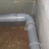 Pose évacuation en PVC diamètre 100 au sous sol (12)
