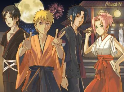 sai sakura naruto sasuke