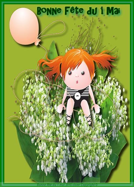 Bonne fête du 1 mai  chance bonheur santée  pour tous bisou cloee