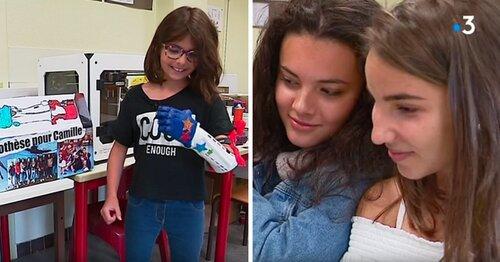 Des collégiennes créent une prothèse de bras