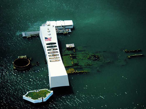 Pearl harbor. U.S.S. Arizona Memorial.