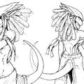two dragon girls