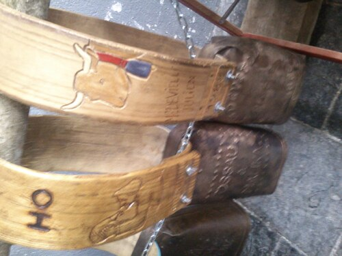 Quelques cloches croisées lors de la fête du fromage de Laruns