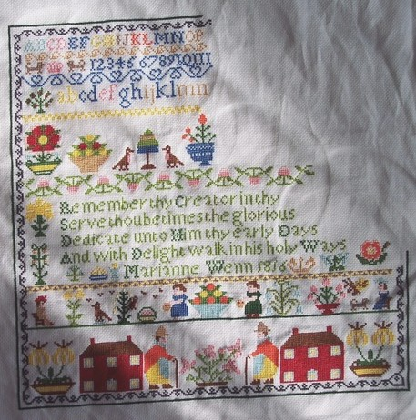Cross stitch guild, Marianne Wenn 1816