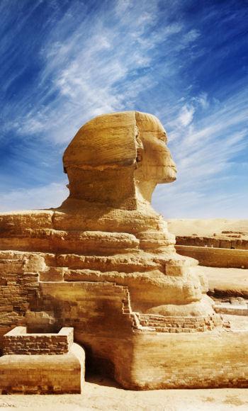 le sphinx symbolise cette civilisation disparue