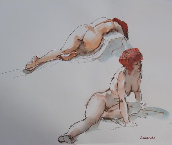 Lundi - Deux poses