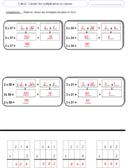 fiche multiplier en ligne et en colonne 2