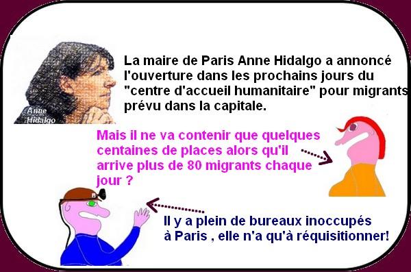 Migrants : Après Calais on nettoie Paris tandis que Valls s'occupe des ports!