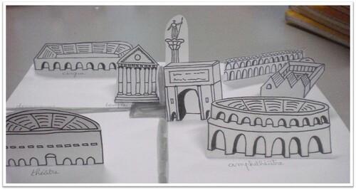 Maquette d'une ville gallo-romaine