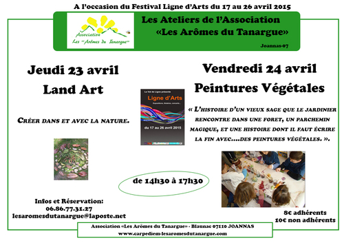 "Newsletter Association ""Les Arômes du Tanargue"" - Avril 2015"