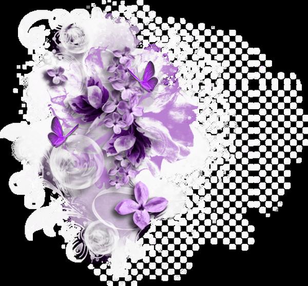 Mes tubes déco avec Fleurs