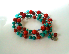 - Turquoise, Corail Mixed