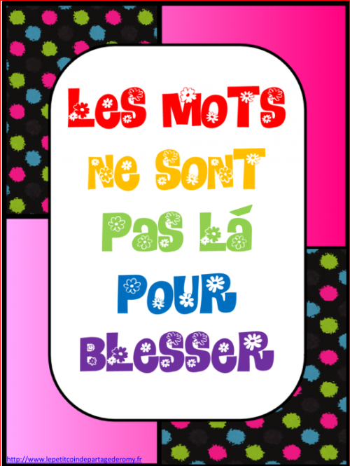 organisation de classe : affichages positifs