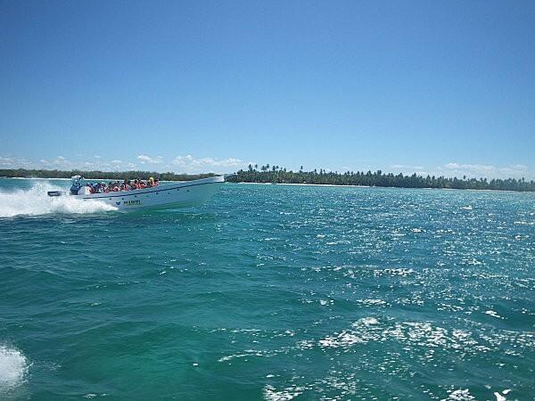 vers l'île de Saona en bateau rapide -3-
