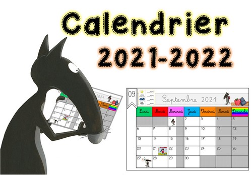 Le calendrier scolaire 2021-2022