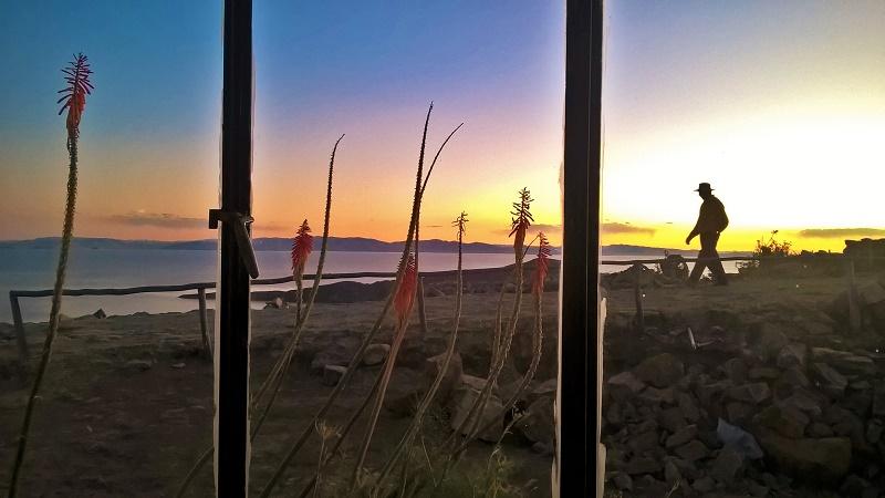 coucher de soleil à l'isla del sol