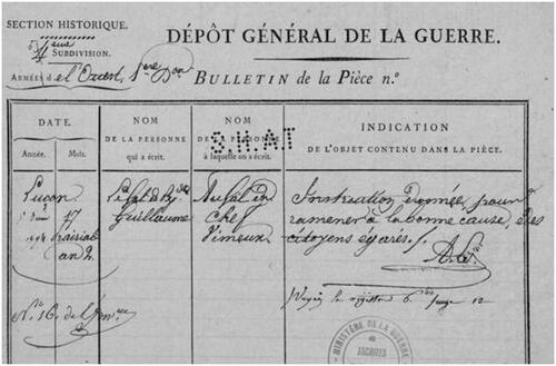 Une sortie du général Guillaume....