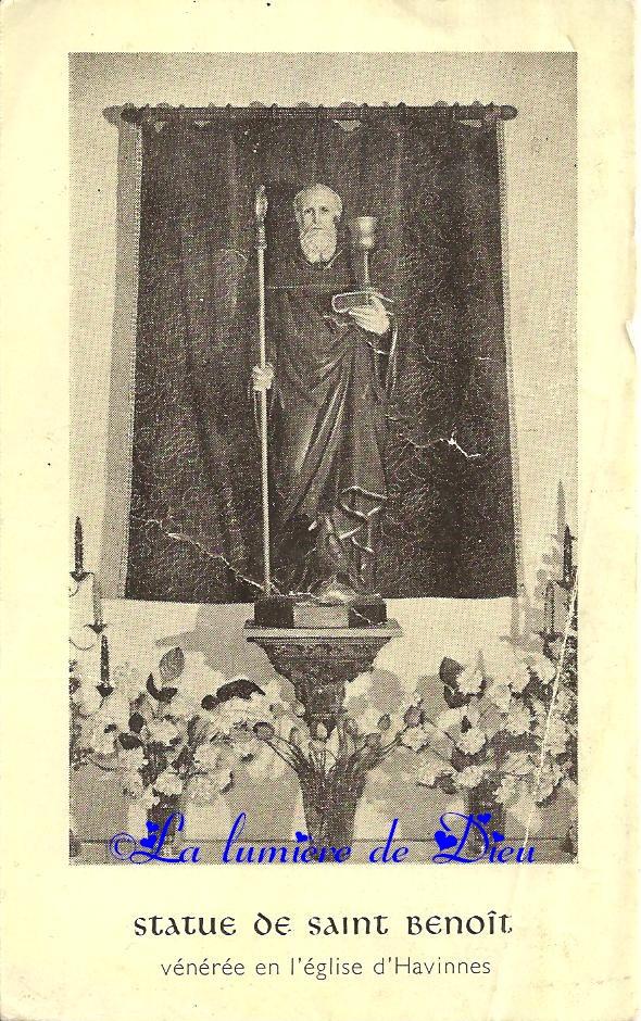 Litanies de saint Benoît vénéré en l'Eglise d'Havinnes