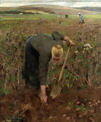 plant to prepare my spring ( by sir george clausen )