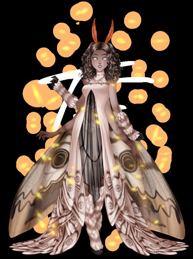 Tenue Moth Lady