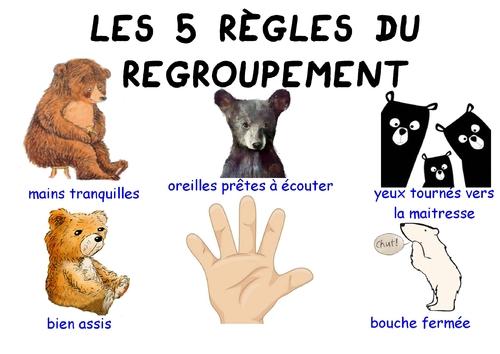 Règles du regroupement des oursons