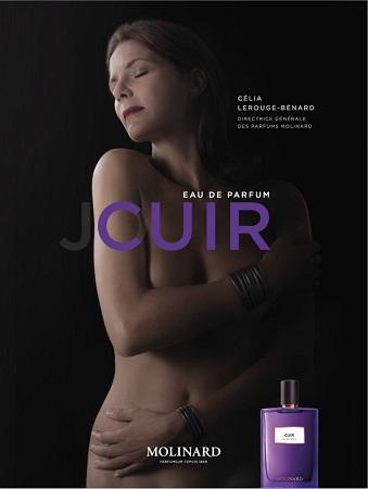 affiche parfum Cuir de Molinard