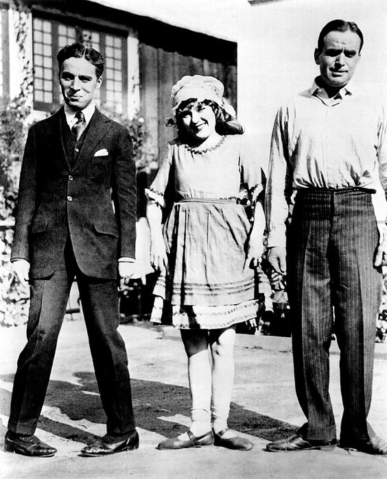 Charlie Chaplin, Mary Pickford and Douglas Fairbanks: