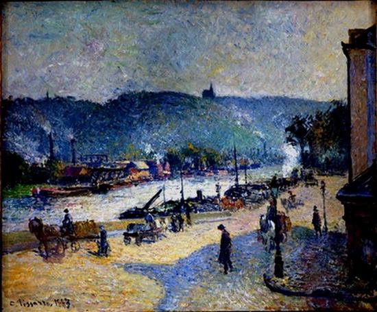 Camille Pissarro, Quais à Rouen