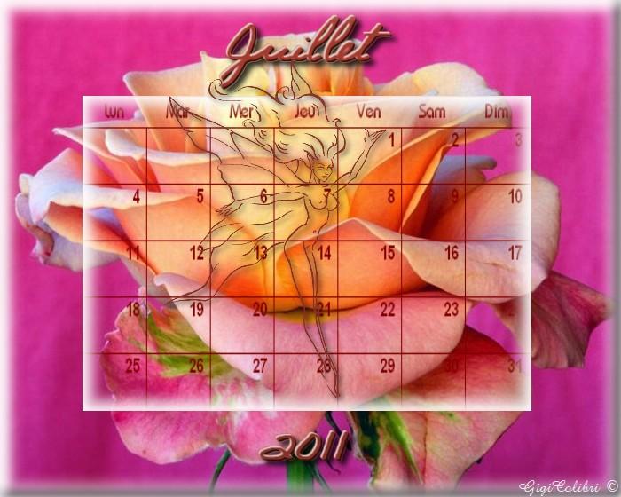 calendrier juillet