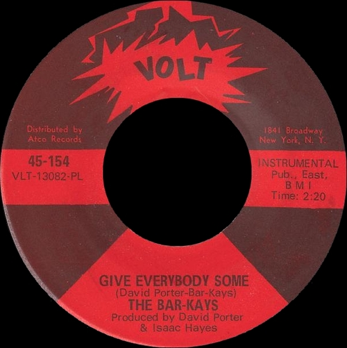 "The Bar-Kays : Album "" Soul Finger "" Volt Records VOLT S-417 [ US ]"