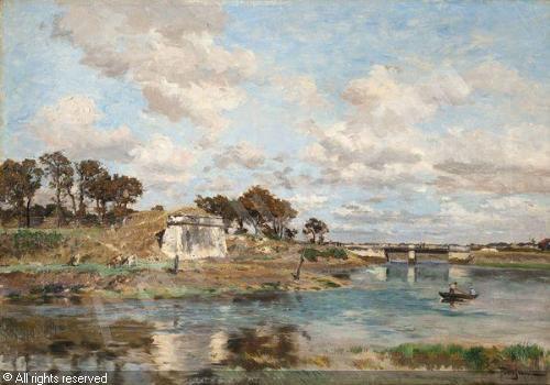 petitjean-edmond-marie-1844-19-bord-de-riviere-avec-ruines-