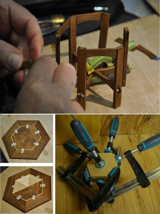 usinage table hexagonale