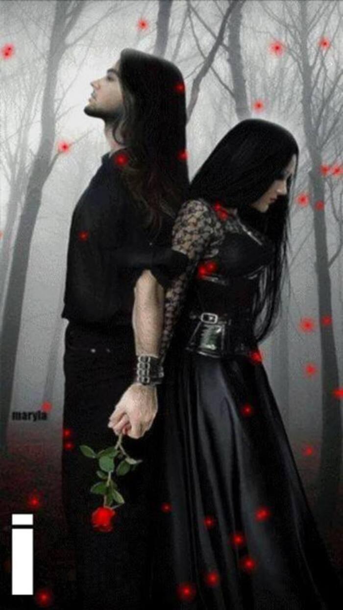 Couples goths romantiques