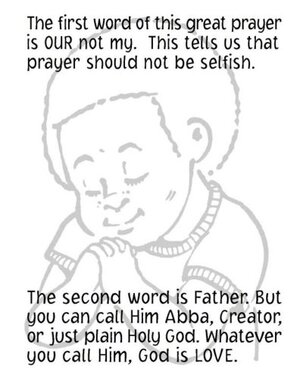 Free Lord's Prayer Coloring