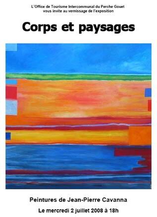 Corps et paysages. Affiche JP Cavanna