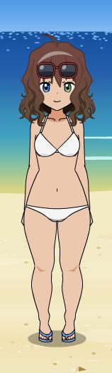 Kamino Hana a la plage