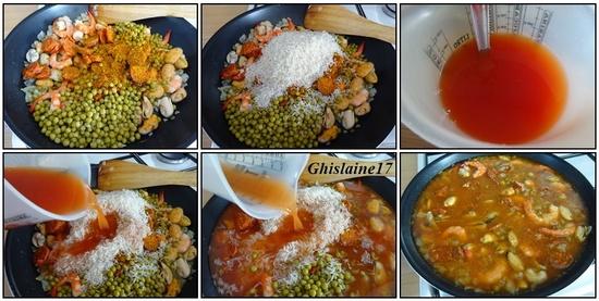 """Riz aux crevettes - moules - chorizo """"façon Paëlla"""""""