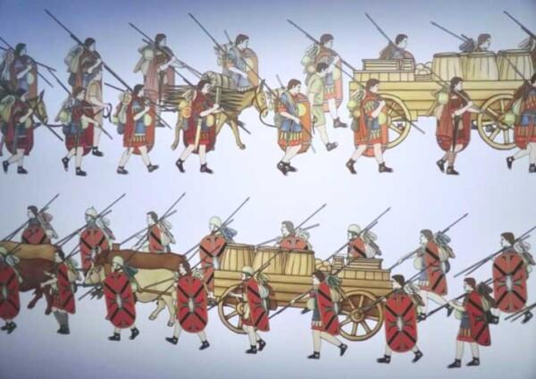 Muséo parc d'Alésia - le train des baggages des romains