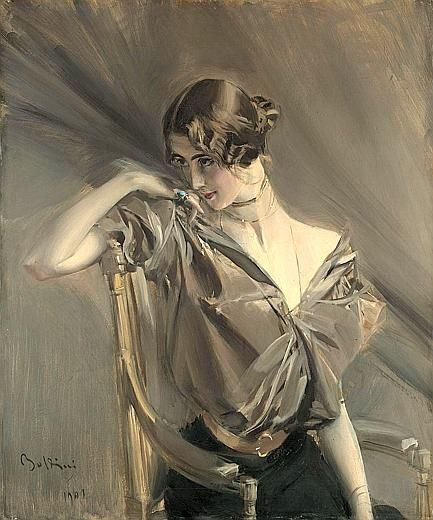 The beautiful Cléo de Mérode, in oils…  1901 Giovanni Boldini       1901 Giovanni Boldini ~ Cleo de Merode: