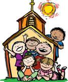 enfants dans église